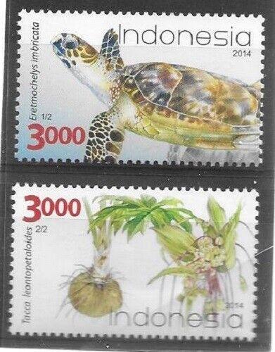 2014 Indonesia - Sg. 3636 / 3637 - Flora Fauna - Turtle - Umm