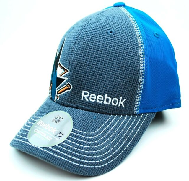REEBOK M207Z NHL PRO DRAFT FLEX FIT HOCKEY HAT/CAP - SAN JOSE SHARKS - S/M