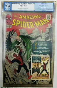 Amazing Spider-Man #2 ~ 1963 ~ PGX 7.5 (VF-) ~ Introduction of the Vulture