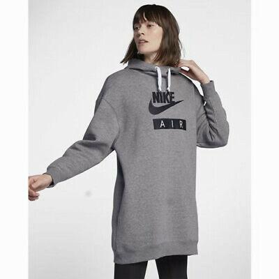 Nike Sportswear Women/'S Air Black//White Dress//Long Hoodie AT5417-010 XS//S//M//L//XL