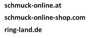 3 Domains: schmuck-online.at / schmuck-online-shop.com / ring-land.de