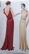 Vintage 30's VOGUE ORIGINAL DESSIN EVENING WEDDING DRESS Sewing pattern B34