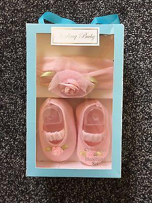 Cochecito de bebé de niña conjunto de Diadema Zapatos Y