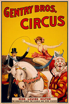 """Vintage Circus Carnival Sideshow Posters Replica 13 x 19"""" Photo Print"""