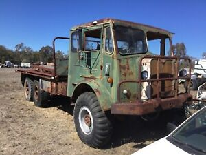AEC-6X6-DIESEL-TRAY-TRUCK-RUNS-amp-DRIVES-EASY-RESTORATION-MASSIVE-WINCH
