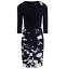 Stylish-Draped-Bodice-Dress-with-Corsage-Detail-Size-20 thumbnail 2