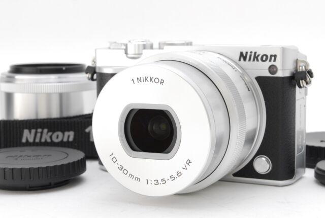 """""""Mint"""" Nikon 1 J5 20.8MP Digital Camera - Silver w/ PD 10-30mm & 18.5mm Lens"""