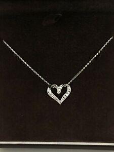 Ernest-Jones-Diamond-Heart-White-375-9CT-Solid-Gold-Chain-Necklace