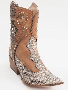 f74e9a59477 New El Vaquero Pythone leather Cowboy Boots Size 38.5 US 8.5 | eBay