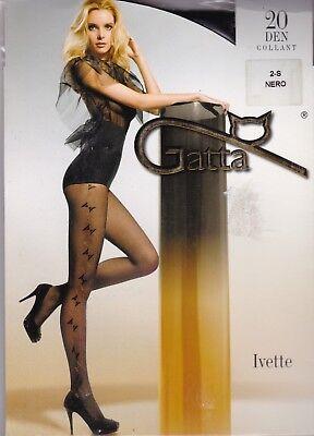 Aggressivo Gatta Ivette Fantasia Collant Fantaisie 20 Den - Noir - Taille 2 / Small Elegante E Grazioso