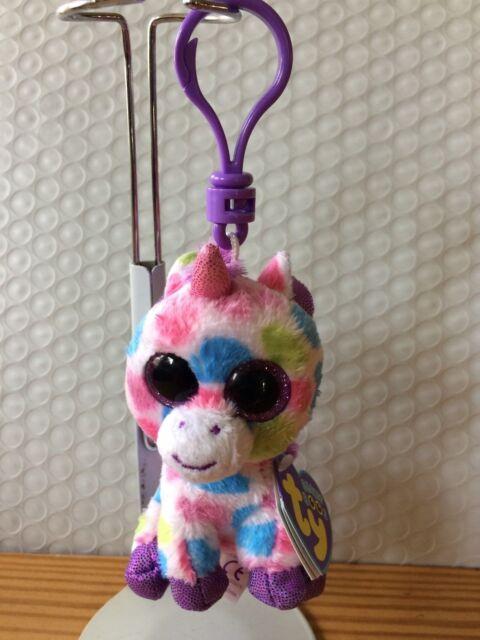 b6f1065dce9 Ty Wishful Unicorn Beanie Boos Key Clip MINT Purple Tag Retired Hard ...