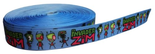 "Invader Zim TV Series 1/"" Wide Repeat Ribbon Sold By The Yard USA Seller"