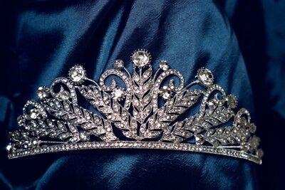 Argento E Diamante Nuziali Matrimonio Tiara-mostra Il Titolo Originale