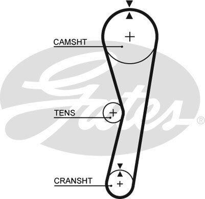 Gates TIMING CAM Ceinture 5127-Brand new-genuine-Garantie 5 an
