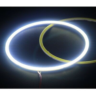 1Pair 12V DC 100mm COB Chip LED Car Angel Eye Light Headlight Halo Ring DRL Lamp