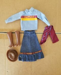 b1322c23fc Image is loading SERGIO-VALENTE-Barbie-Size-DOLL-CLOTHES-Cowgirl-Outfit