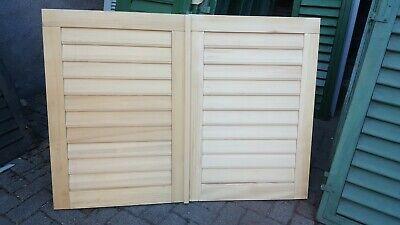 ohne Beschläge neu 1 Paar Fensterladen Holz Holz naturbelassen