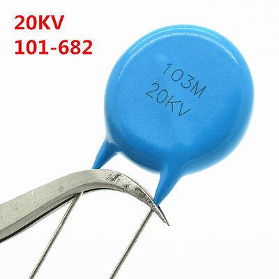 50Pcs 2KV 102 103 221 222 332 471 472 101-681 High-voltage Ceramic Capacitor