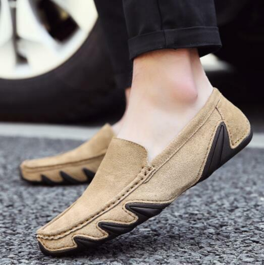 Uomo Faux Suede Flats Leisure Loafers Driving Gommino Slip On On On Shoes Comfort New 4b06e8