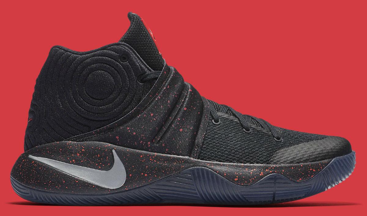 Nike Kyrie 2 Black Red Speckle Size 13. 819583-006 jordan kobe