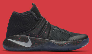 on sale f357f 8ed17 Details about Nike Kyrie 2 Black Red Speckle Size 15. 819583-006 jordan kobe