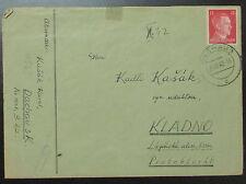 1942 Germany Dachau Concentration Camp Cover Karl Kasak Plain Envelope to BM KZ