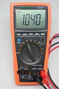 AideTek VC97+ 3999 Auto range multimeter tester DMM AC DC R C current buzz hold