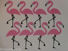 """8 pink flamingo die cuts  Scrapbook die cuts 4"""" x 2 1/4"""""""