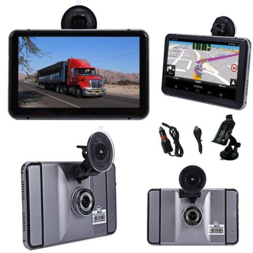 Android WiFi 7 pulgadas navegador para automóviles camiones caravana con Dashcam y DVR