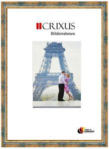 CRIXUS40-Vero-Legno-Cornici-Antico-Blu-Oro-Barocco-da-Fotografia-B-27-453