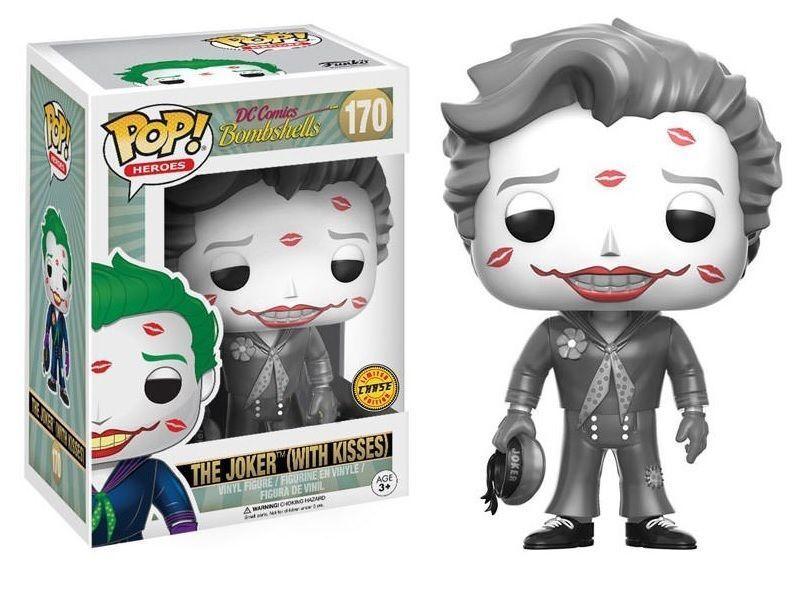 The Joker With Kisses Bombshells Chase Vers. POP  Heroes  170 Vinyl Figur Funko