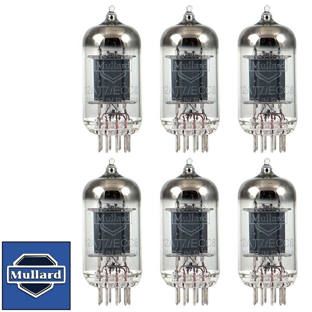 Brand New Mullard Reisue 12AT7 ECC81 Match Sextet (6) Vacuum Tubes