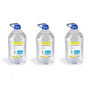 3x Destilliertes Wasser 5 Liter Kanister Haushalt Bugeleisen Kfz
