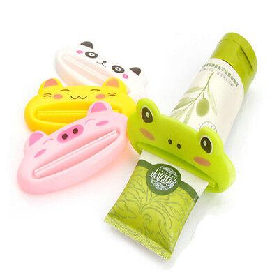 NEW Bathroom Home Tube Rolling Holder Squeezer Easy Cartoon Toothpaste Dispenser