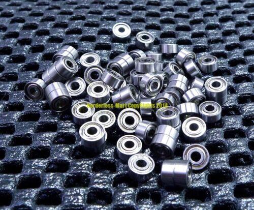 [10 Pcs] 681xzz (1.5x4x2mm) Metal Double Shielded Ball Bearing Bearings 1.5*4*2