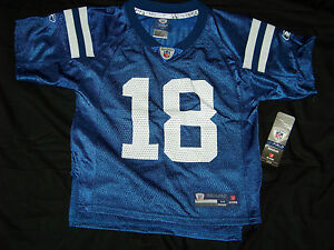 d45c25c8 Details about Reebok Kids & Youth Indianapolis Colts #18 Peyton Manning  Jersey NWT