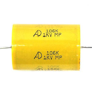 50pc MPT Condensateur 1uF 1 kV 105K 105 1000 V K ± 10/% axial type pour Audio AMP aide