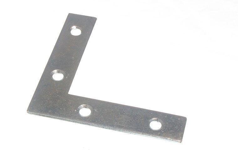 Nuovo 75MM Piatto Staffa ad Angolo - Placcati Zinco M1966 ( Pkg di 100)