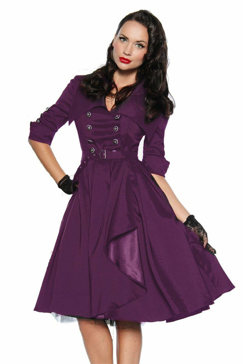 50er Ans Pin Up Vintage Rockabilly Robe Robe de bal en lila ou Jupon Jupe