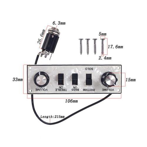 Violine Bass Gitarre Control Linie für Hofner Violin Bass Gitarre Bb2 R4C4 VG
