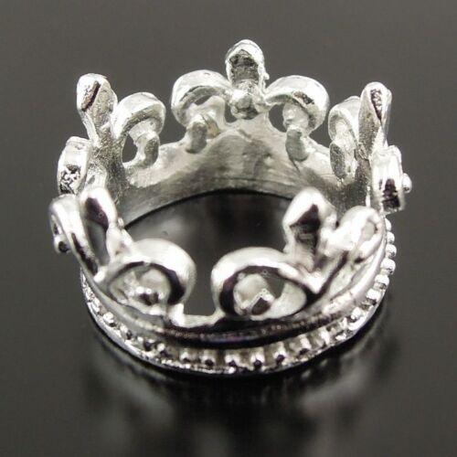 30PCS vintage Sliver Tone Beauté gracieuse Folwer Crown 13*13mm Pendentif Hot 18 mm