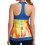 NWT Moxie Rio Layered Orange Blue Tank Cycling Jersey S M L or XL