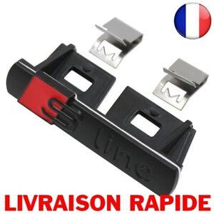 3D-NOIR-Sline-Avant-Grille-Embleme-Badge-Chrome-Calandre-autocollant-Accessoires