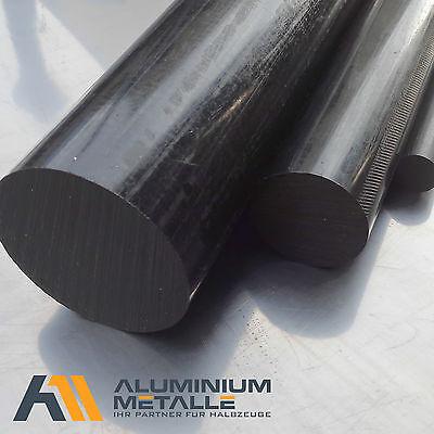 Polyamid PA6 Rundstab schwarz /Ø 50mm L: 150mm Rundmaterial Zuschnitt 15cm
