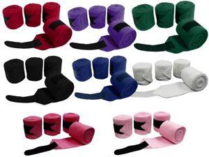 Derby-Originals-Fleece-Horse-Polo-Wraps-Set-of-4-Bandages