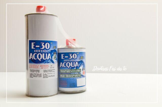 Prochima Resina epossidica E-30 effetto acqua trasparente 1,6 kg