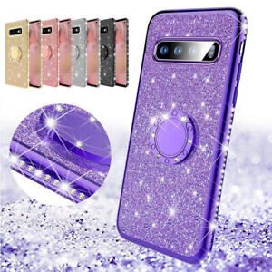360-Ring-Stand-Bling-Glitter-TPU-Case-Cover-For-Samsung-Galaxy-A50-M30-J8-2018