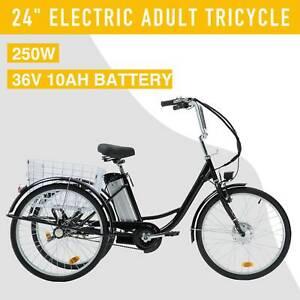 "24"" Adult Electric Three-Wheeled Bicycle 250W f36V 10AH Lithium Battery Trike"