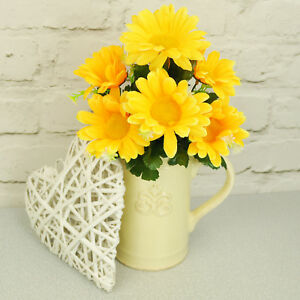 Artificial silk flowers daisy bunch bright yellow weddings home image is loading artificial silk flowers daisy bunch bright yellow weddings mightylinksfo