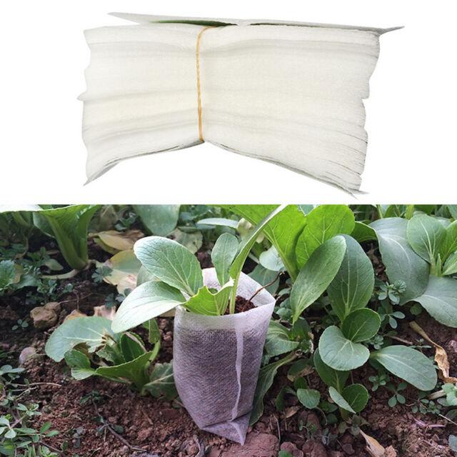 100x Nursery Pots Plant Fiber Seedling Raising Bags Home Garden Supplies Lots